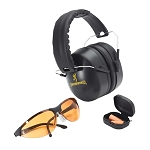 Browning Shooting Glasses Range Kit with Hearing Protection, 27dB
