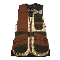 Wild Hare Heatwave Mesh Shooting Vest - Forest Green & Brown, Size Large