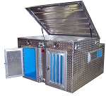 K-9 COOLER - 2-Dog Box - 48x48x31 - TALL - WATER TANK - DBX4848T-C