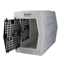 Ruff Land Dog Kennel - Intermediate Double Door - Left Side Entry