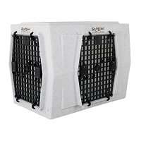 Ruff Land Dog Kennel - Intermediate Double Door - Right Side Entry