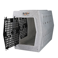 Ruff Land Dog Kennel - Large Double Door - Left Side Entry