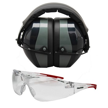 Champion Shooting Glasses - Ballistic Eyes and Ears Combo, 26dB