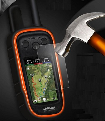 EXPLOSIONproof Tempered Glass Protective Shield, for Garmin Alpha