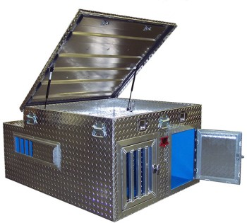 TOP DOG - 2-Dog Box - 48x48x25 - Top Storage - DB4848T