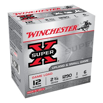 Winchester Super-X Upland and Small Game Load, 12 ga 6 shot