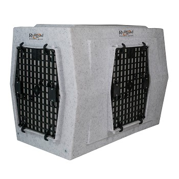 Ruff Land Dog Kennel - Large Double Door - Right Side Entry